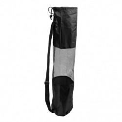 Hordozható hálós közepű fekete Pilates szőnyegtartó hordozó a S4C8 jógahoz