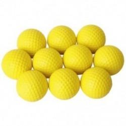 10db sárga, puha, elasztikus beltéri gyakorlati PU golflabda T3Z4