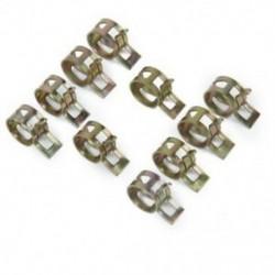1X (10 x rugós szorító üzemanyag-tömlő vezeték vízcső légcső bilincsek Rögzítő diam E1I7