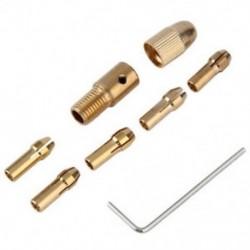 8 db-os, 0,5-3 mm-es elektromos fúrószerszám-gyűrű, Mini Twist tokmány szerszámkészlet X2P8
