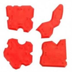 4 db / készlet vörös tömítő szerszámkészlet, közös tömítőanyag, szilikon habarcs eltávolító lehúzó L3I8