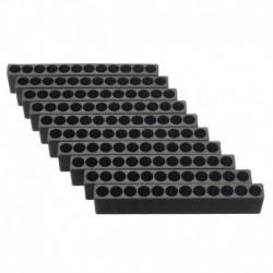 10 db 12-lyukú csavarhúzó bittartó doboz blokk fekete hat szög 6,35 mm H Z4W1