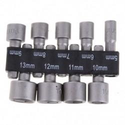 9db / készlet 5mm-13mm 1 / 4inch-es DIY Hex Shank Socket hüvelyfúvókák Anyaghajtó Bi J2E9