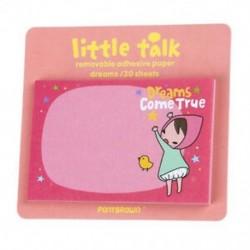 1 db-os véletlenszerű aranyos kis beszélő lány matrica, a feljegyzés feljegyzése 30 lapra mutat: K5X0