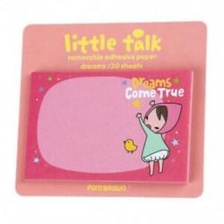 1 db-os véletlenszerű aranyos kis beszélő lány matrica, feljegyzés, 30-os B8K4 lapra mutat
