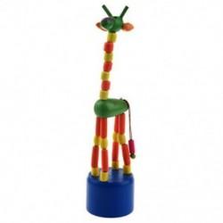 Gyerek fejlesztő játék baba táncoló hintaló álló színes zsiráf fa K8H5