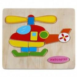 Fa rejtvények oktatási fejlesztésű gyermekkori edző játékok (Helicop F4J8