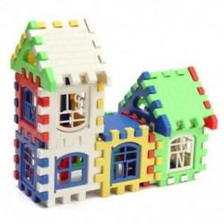 2X (24 db gyermekek puzzle-műanyag levél építőelemek ház játék U3T3)