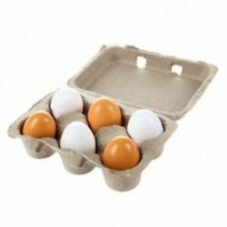 6db / szett fa tojás tojássárgája úgy tesz, mintha Play konyha ételek főzés gyerek játék Xmas Gi Y3S3