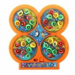 Véletlenszerű színes horgászat játék Elektromos forgó mágneses mágneses halakú játék-gyerek U3L4
