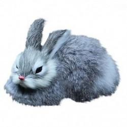 3X (15 cm-es mini reális aranyos plüss nyulak, szőrme egészséges állat húsvéti nyuszi I6H7
