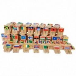 MWZ 100 darab Új többnyelvű nemzeti zászló Domino fajátékok megértik a W5J2-t