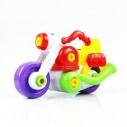 5X (gyerekeknek a gyermekek szétszerelése és összeszerelése rajzfilm motorkerékpár játék eszköz Chr V1F0