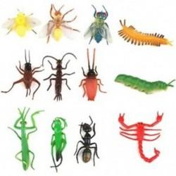 Műanyag mesterséges rovar modell játék 12 db. U2M6