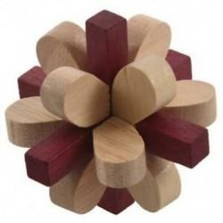 Fa kétszínű szilvazár lila zárak Logikai puzzle Burr rejtvények Brain T W1C5