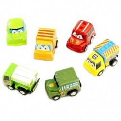 6 db-os hátsó autójátékok Autó-gyermekek versenyautó baba mini-autók rajzfilm Pull X4T8