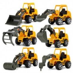 6 stílusú Mini Diecast műanyag járműgyártó járművek Excavat C3L4