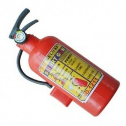 2X (gyermek piros műanyag tűzoltó készülék alakú spricc vízfegyver játék R1N5)