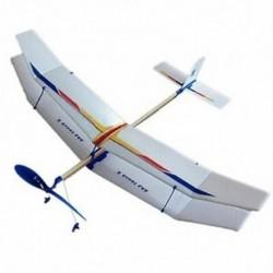 Gumi gumiszalaggal működő, repülő vitorlázó repülőgép modell, barkács játék az I6O7-hez