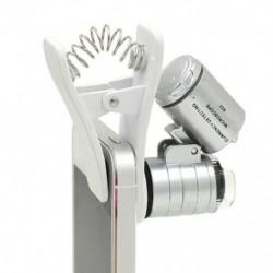 1 db univerzális 3LEDs klip mobiltelefon mikroszkóp nagyító mikrolencsével 60X H7K4