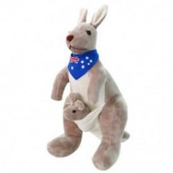 1X (édes kenguru töltött állati puha plüss babajátékok baba gyerekeknek (kék) G3V9)