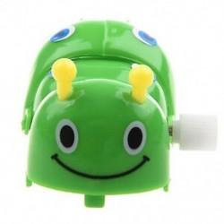 Gyerekek óramű tavaszi játék zöld műanyag rajzfilm kúszó rovar U3C8 N8J3