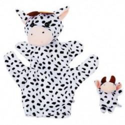 2X (Fekete-fehér tejelő tehén kézbáb ujjbábok V2J9)