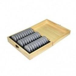 30 rács emléktárgy fából készült érme tároló doboz gyűjtődoboz 20/25/30/3 B2Y1