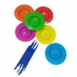 6 készlet műanyag forgólemez zsonglőrkészlettel ellátott teljesítményszerszámok Gyerekek Childre D1W1
