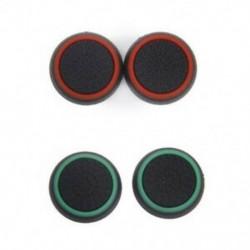 2 pár játék joystick hüvelykujj-kupakkal a PS4 vezérléshez fekete   zöld bla B4J3
