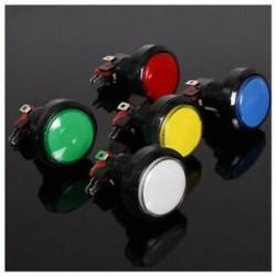 45MM világító LED-es világítású, 5 színű arcade videojáték nagy kerek nyomógombbal, C2A3