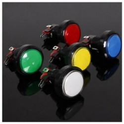 Kétszeres (45 mm-es világító LED-es világítású, 5 színű arcade videojáték nagy, kerek, de F3M3