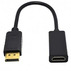 DisplayPort DP Férfi HDMI kábeladapter-kijelző port átalakító projektor Laptop