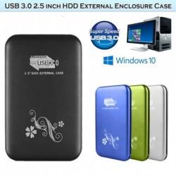 """USB 3.0 2.5 """"SATA külső tok HDD merevlemez meghajtó alumínium ház * 2537"""