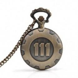 Bronz zsebóra Fallout 4 Vault 111 elektronikus játékok nyaklánc lánc toll J3W0