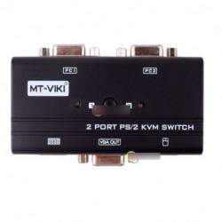 2 Port PS/2 Manual VGA KVM Switch Box egér billenytűzethez Monitor Computer