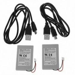 Új 2X csereakkumulátor a SONY PS3 vezérlőhöz   E7G7 USB töltő kábel