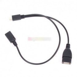 Micro USB Male USB Host OTG Kábel USB Y Kábel Samsung