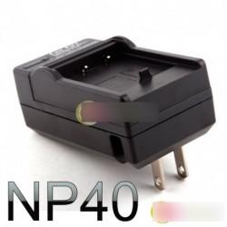 Akkumulátor töltő Fuji NP-40 NP40 FinePix V10 F455 F460 F402 D610 F700 Z1 Z2 Z3 Z5 FD