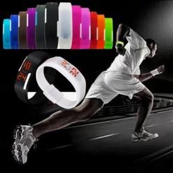 Új divatos Sport LED szilikon gumi érintőképernyős digitális vízálló karóra óra