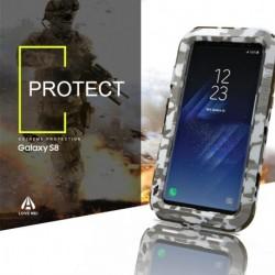 LOVE Mei Alumínium Fém Gorilla Üveg Ütésálló Vízálló tok Samsung Galaxy S8