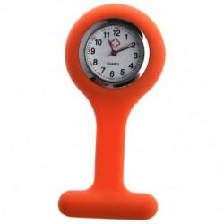 1X (ápolónők, brosza, szilikon gumi tunika fob óra narancssárga U3F3)