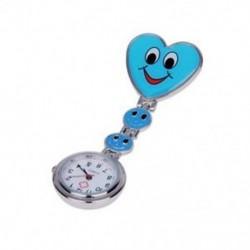 Kék szív kvarc mozgás klip nővér brosza Fob tunika óra mosolygó arc H3B6