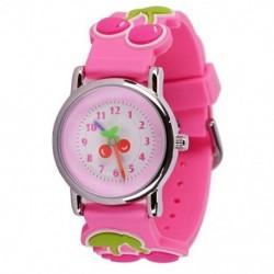 WILLIS lányok gyerekek gyerekek aranyos csukló óra óra tanár rajzfilm cseresznye tű J7A5
