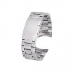 1X (ezüst szilárd rozsdamentes acél linkek óraszíj hajlított végzáró kapocs 20 mm W2J7)