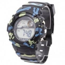 3X (Man LED digitális ébresztőóra-adatok időzítése vízálló fekete álcázás F1D8)
