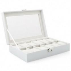 Óratartó doboz tok (fehér, 12 rács) N3D4