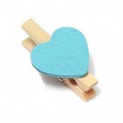 2X (10 db-os mini szív fotó emlékeztető klipek fából készült csapok kézműves party kedvenc lóg J6S1