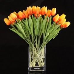 10db tulipán virág latex esküvői csokor dekorációhoz (narancs tulipán) PK K3F6 K2Y0