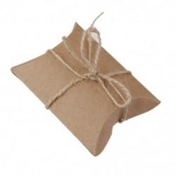 50 db ajándék ajándékdoboz doboz párna doboz esküvői születésnapi barna B7G8